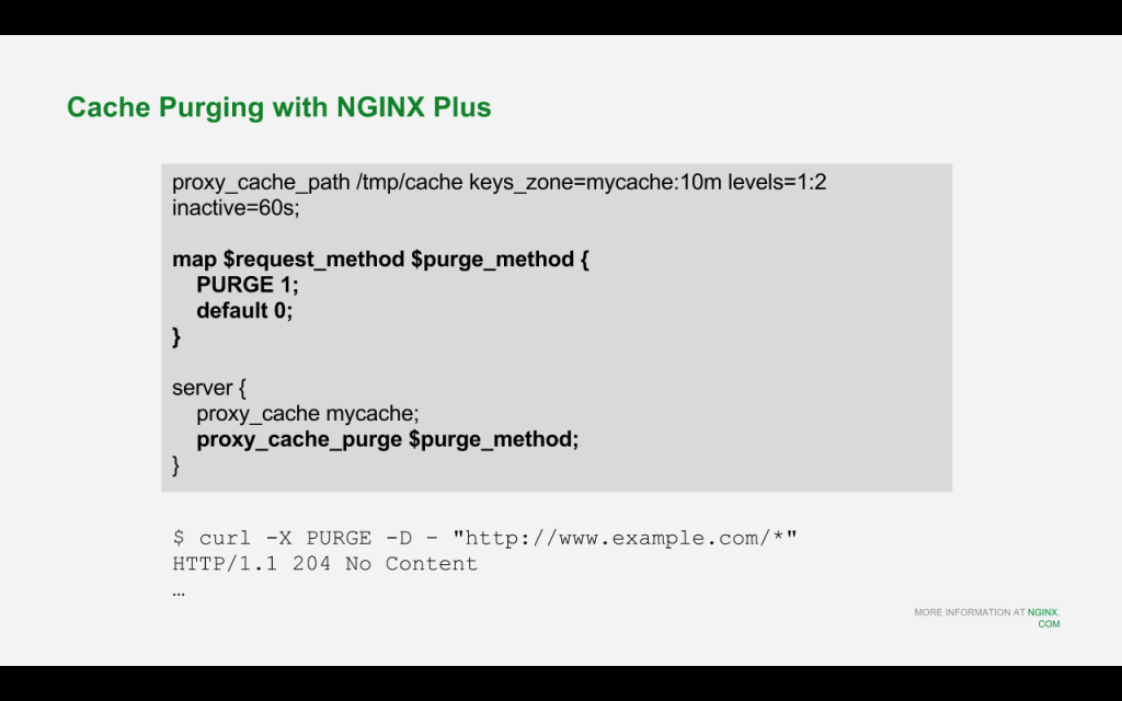 Slide 13 - Cache Purging
