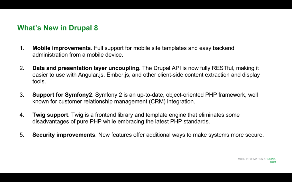 Slide 2 - What's New in Drupal 8