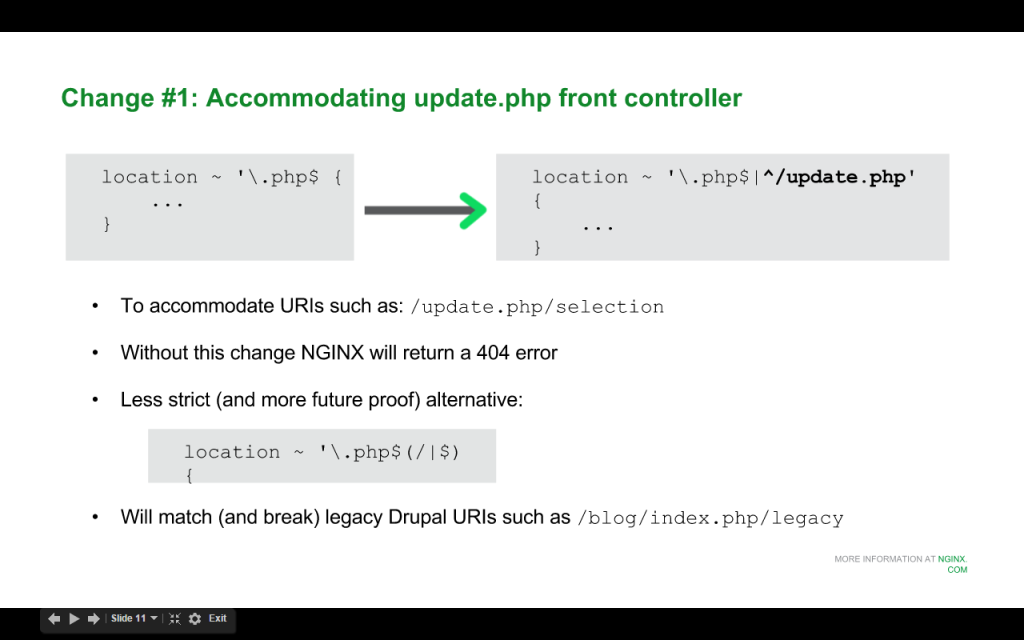 Slide 6 - Accomodating update.php