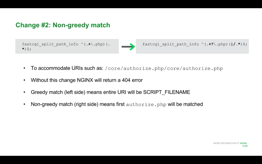 Slide 7 - Non-greedy Match