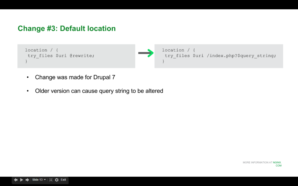 Slide 8 - Default Location