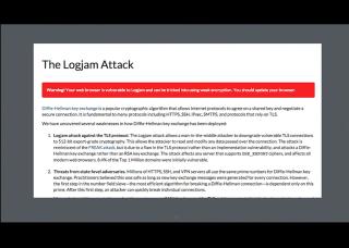 LetsEncrypt conf2015 Slide 11 - LogJam