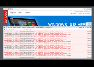 LetsEncrypt conf2015 Slide 14 - Lenovo Mixed Content