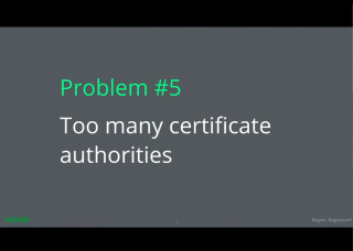 LetsEncrypt conf2015 Slide 16 - too many CAs