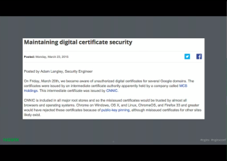 LetsEncrypt conf2015 Slide 18 - Certificate Security