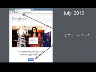 LetsEncrypt conf2015 Slide 4 - Google Ads