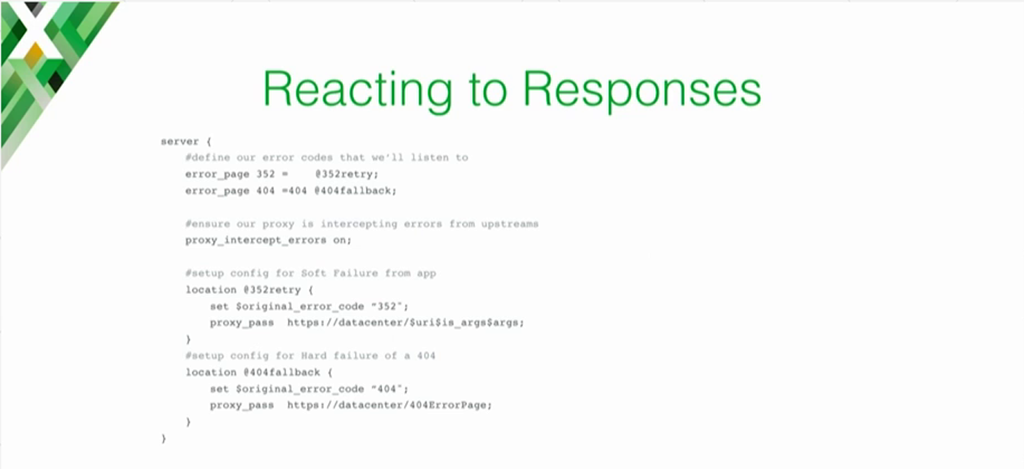 NGINX configuration example for implementing the recommended response to soft errors [presentation on lessons learned during the cloud migration at Expedia, Inc.]