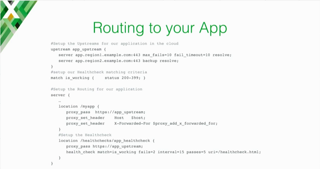 NGINX configuration example for routing traffic when moving apps to the cloud [presentation on lessons learned during the cloud migration at Expedia, Inc.]