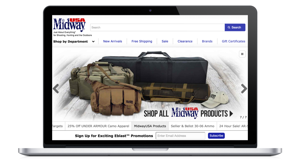 MidwayUSA ecommerce website runs on NGINX Plus load balancer and cache
